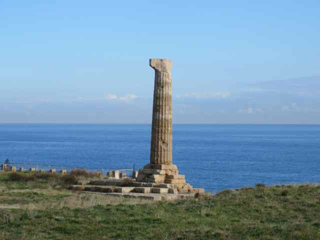 Greek column in Crotone Calabria
