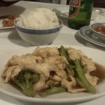 Chinese food in Italy - Chicken with broccoli