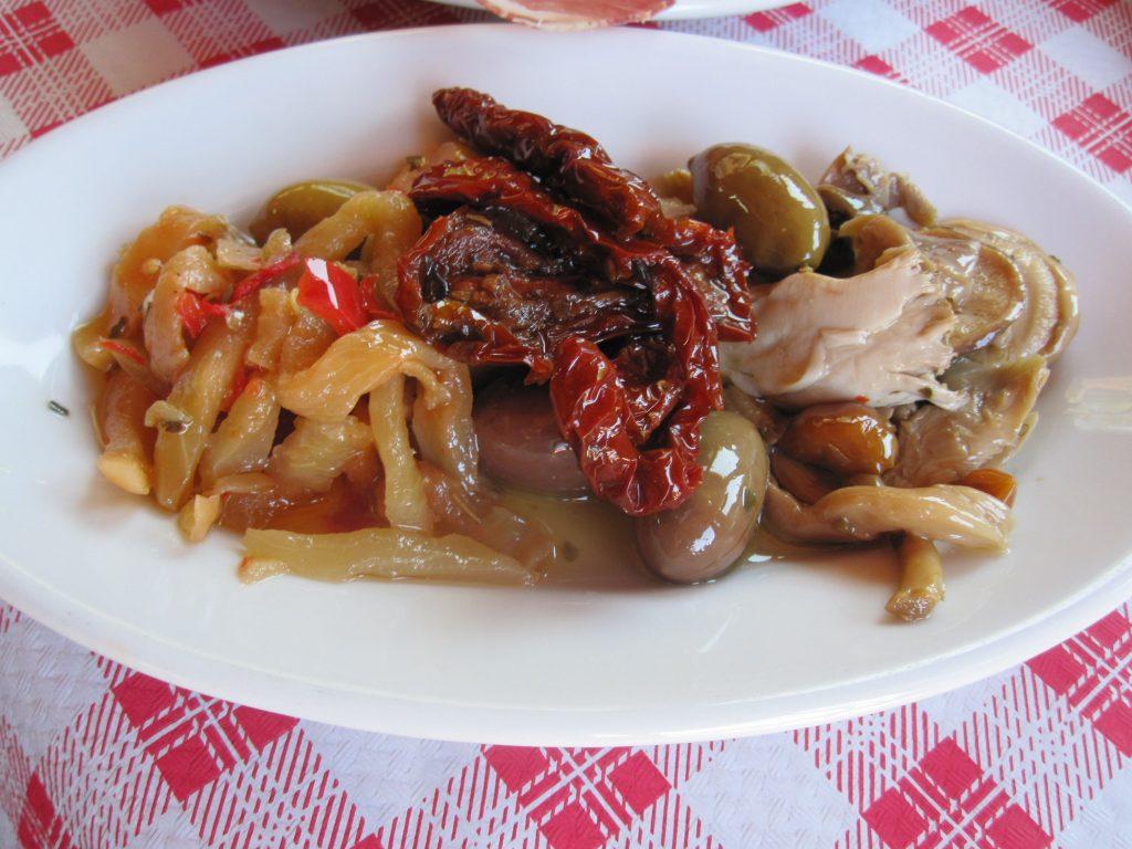 Antipasti with mushrooms