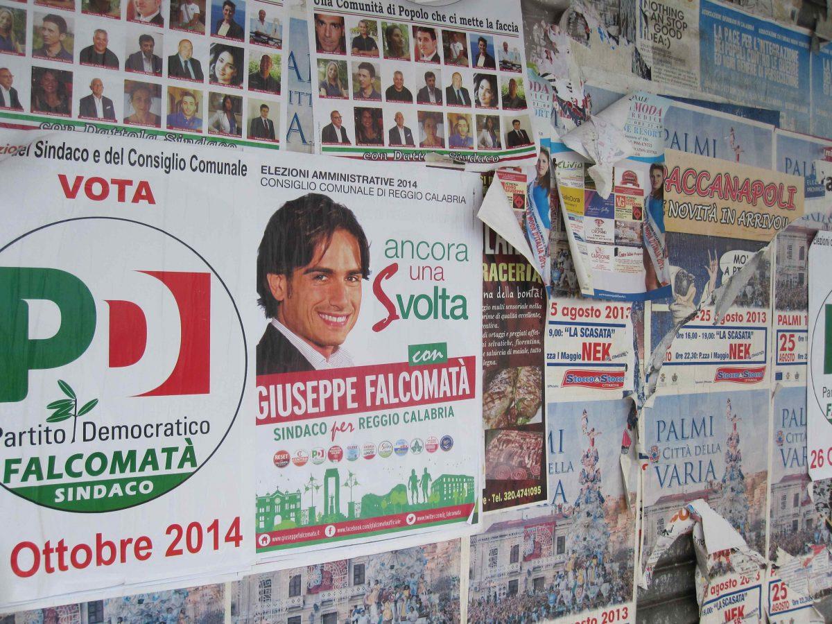 Falcomatà Campaign Poster, Reggio Calabria