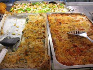 Trays of food in tavola calda in Reggio