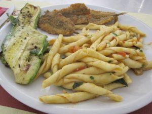 Mixed plate at tavola calda in Reggio