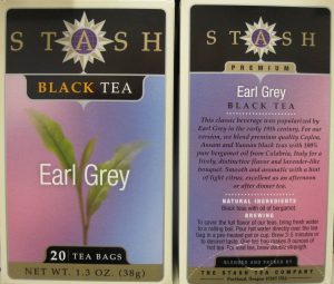 Stash's Earl Grey Tea with pure bergamot oil from Calabria