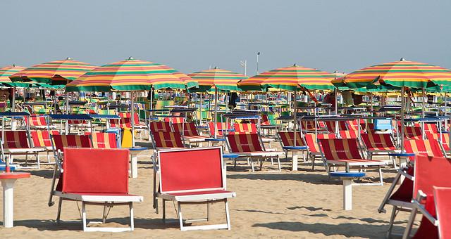 Italian Beach, Rimini umbrellas