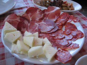 Meat and cheese antipasto