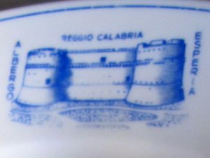 Detail of dinner plate from Albergo Esperia, Reggio Calabria