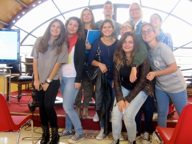 At Liceo Classcio Europeo, Italian High School in Reggio Calabira