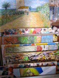Salvatore's Canvases, Artist in Amantea