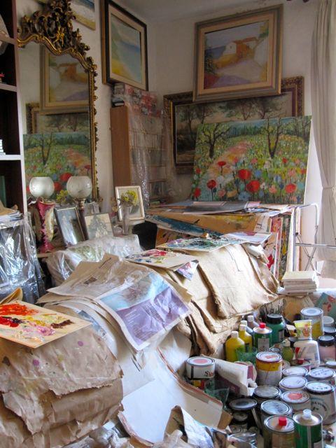 Artist in Amantea, Salvatore's Studio