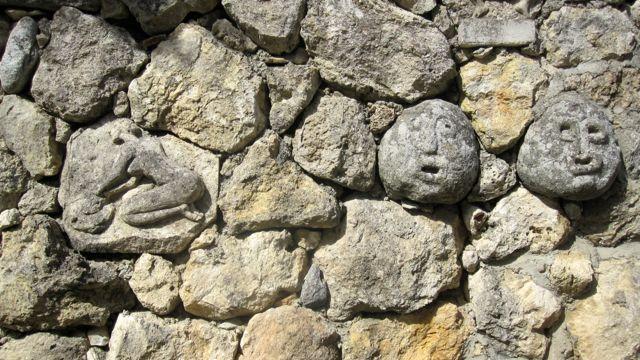 Stone Wall at MuSaBa, Mammola, Calabria