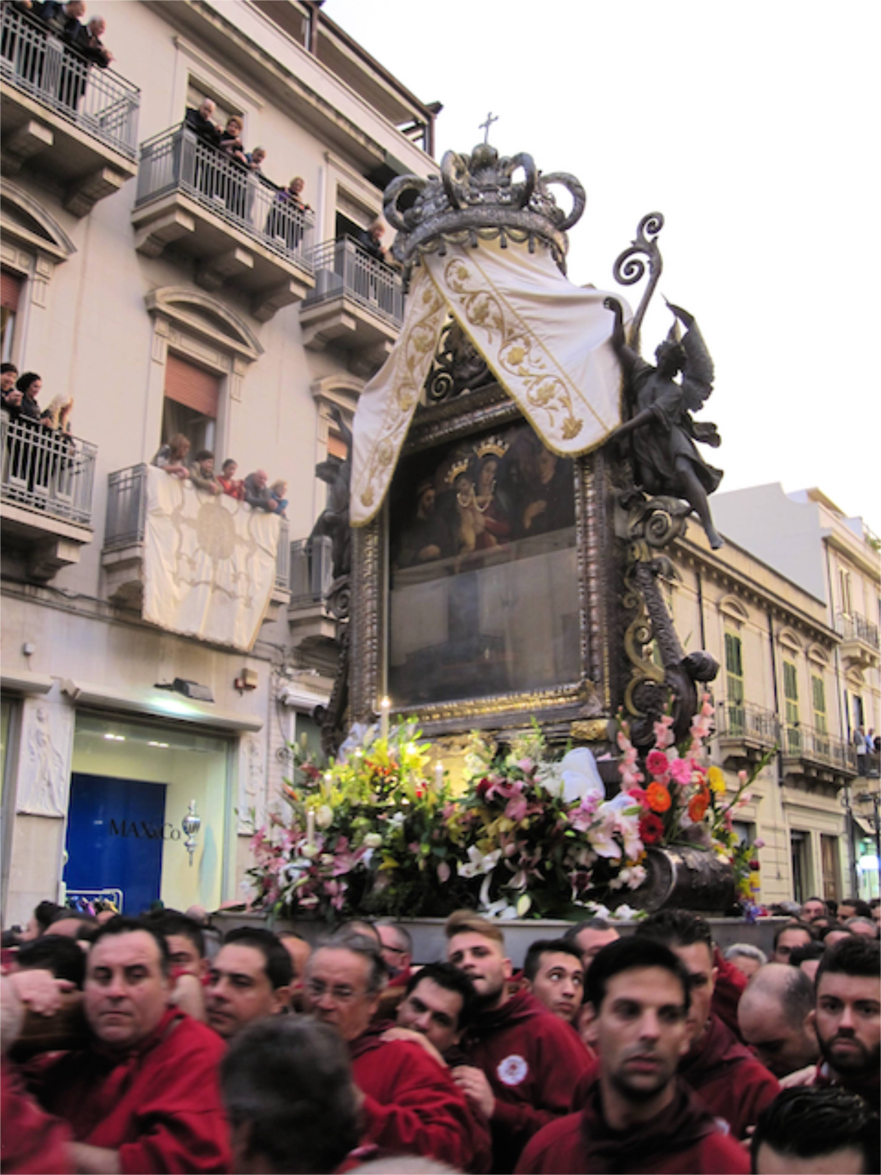 Festival of the Madonna, Procession in Reggio Calabria