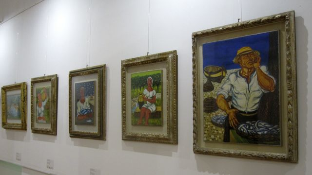 Palazzo della Cultura, confiscated 'Ndrangheta art