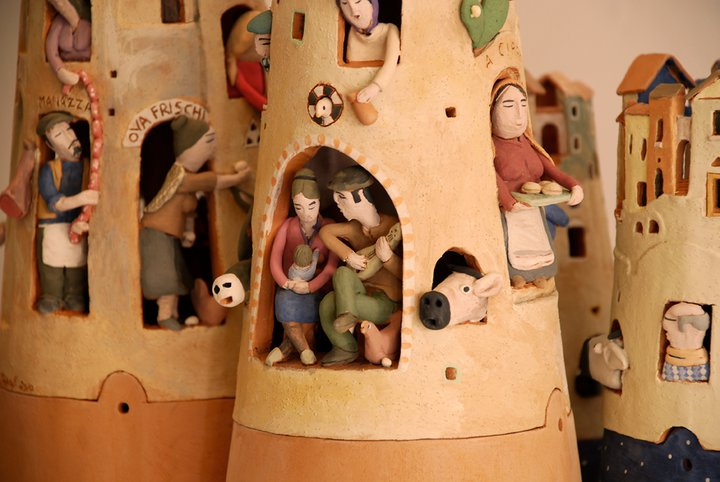 nativity scene, terracotta