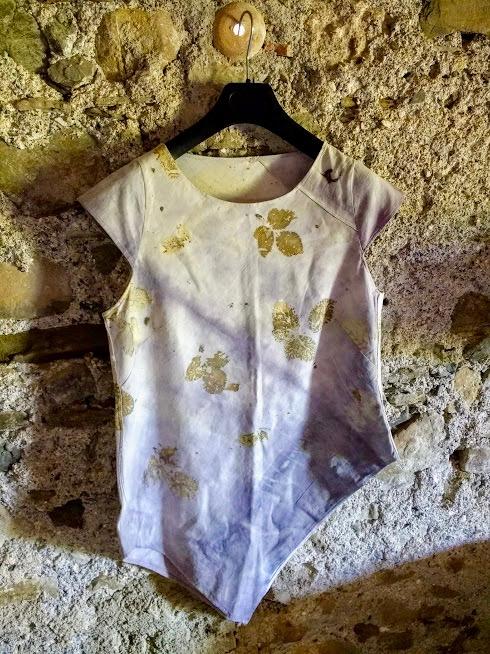 eco-printing shirt