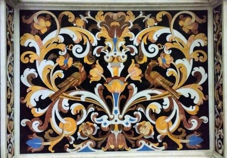 inlaid marble