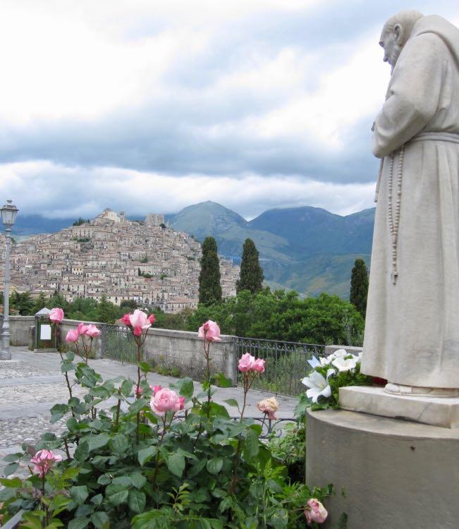 Padre Pio statue in Calabria